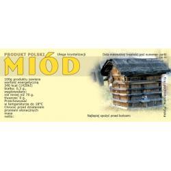 Paczka etykiet na miód (100szt) - wzór E2