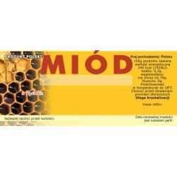 Paczka etykiet na miód (100szt) - wzór E4