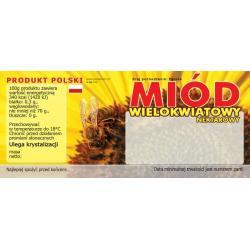 Paczka etykiet na miód wielokwiatowy (100szt) - wzór E11