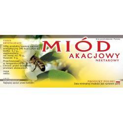 Paczka etykiet na miód akacjowy (100szt) - wzór E17