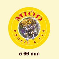 Paczka MAŁYCH nakrętek na słoiki z miodem (50szt) - wzór NM2