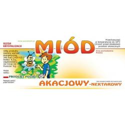 Paczka etykiet na miód akacjowy (100szt) - wzór E28