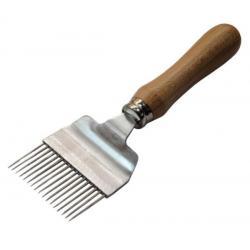 Odsklepiacz widelcowy prosty z rączką drewnianą