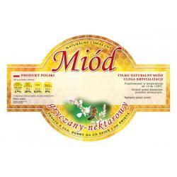 Paczka etykiet okrągłych na miód gryczany (100szt) - wzór E258
