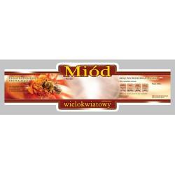 Paczka etykiet ozdobnych na miód wielokwiatowy (100szt) - wzór E213