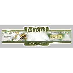 Paczka etykiet ozdobnych na miód akacjowy (100szt) - wzór E216