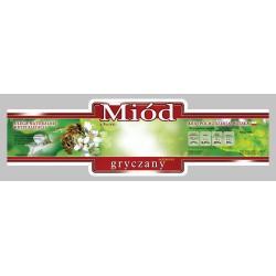 Paczka etykiet ozdobnych na miód gryczany (100szt) - wzór E217