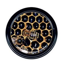 Paczka DUŻYCH nakrętek na słoiki z miodem (50szt) - wzór ND18