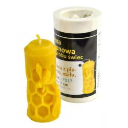 Forma silikonowa: Świeca z plastrem mała (wys: 7 cm)