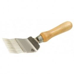 Odsklepiacz widelcowy profilowany z rączką drewnianą
