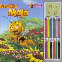 Pszczółka Maja - barwny świat łąki (zabawy z kredkami)