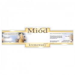 Paczka etykiet ozdobnych na miód kremowany (100szt) - wzór E225