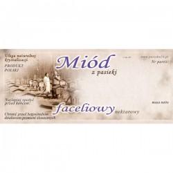 Paczka etykiet na miód faceliowy (100szt) - wzór E97