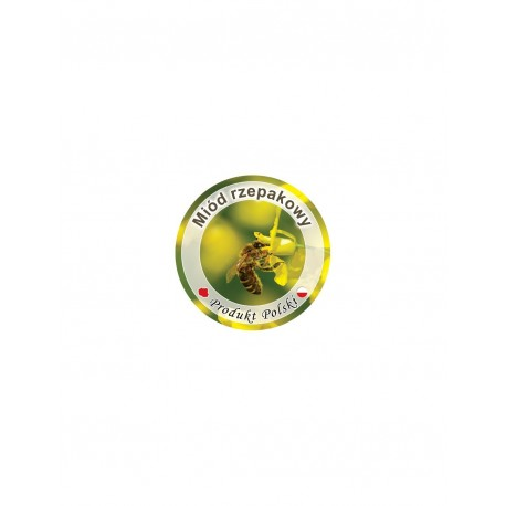 Paczka etykiet na pokrywkę słoiczka mini Ø 37 mm (miód rzepakowy)