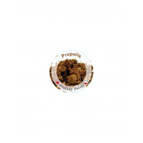 Paczka etykiet na propolis na pokrywkę słoiczka mini Ø 37 mm lub buteleczkę z roztworem